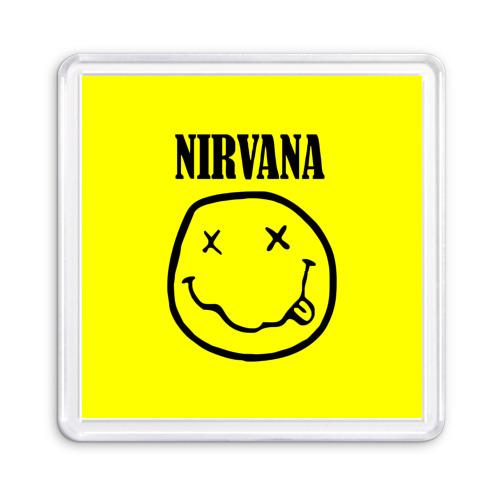 Магнит 55*55  Фото 01, Nirvana logo