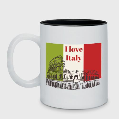 Кружка двухцветная  Фото 01, Я love Италия