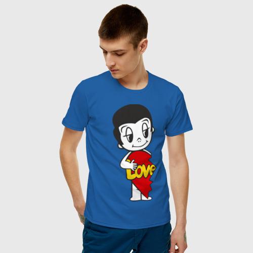 Мужская футболка хлопок Love is парная Фото 01