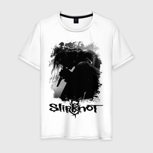 Мужская футболка хлопок slipknot corey taylor