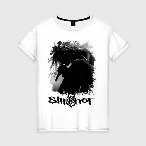 Женская футболка хлопок slipknot corey taylor