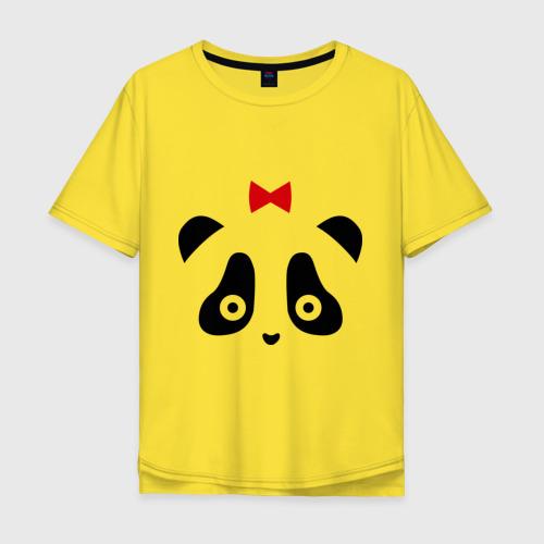 Мужская футболка хлопок Oversize Панда (женская) Фото 01