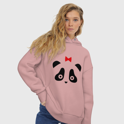 Женское худи Oversize хлопок Панда (женская) Фото 01