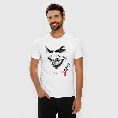 Мужская футболка премиум  Фото 03, Рисованный Джокер
