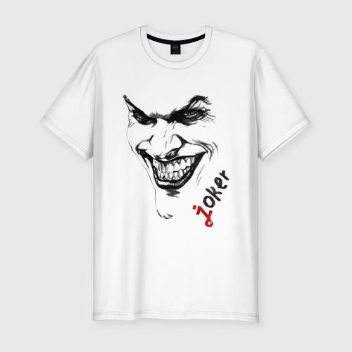 Мужская футболка премиум  Фото 01, Рисованный Джокер