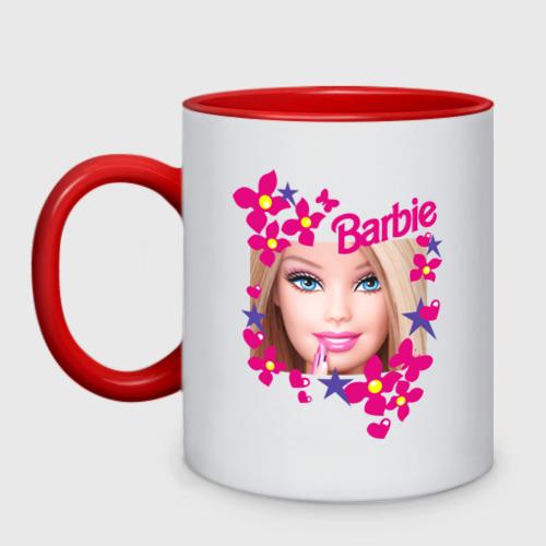 Кружка двухцветная Барби красавица