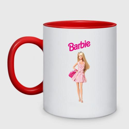 Кружка двухцветная Барби на прогулке Фото 01