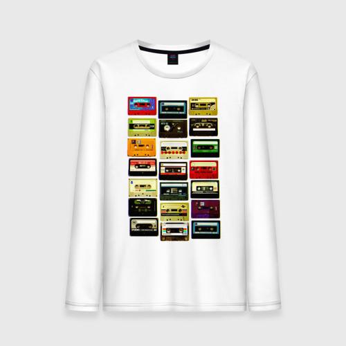 """Мужская футболка с длинным рукавом """"Сборка кассет"""" - 1"""