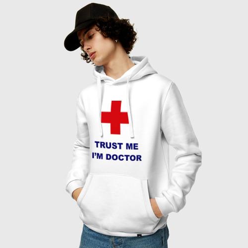 Мужская толстовка хлопок trust me i am doctor Фото 01