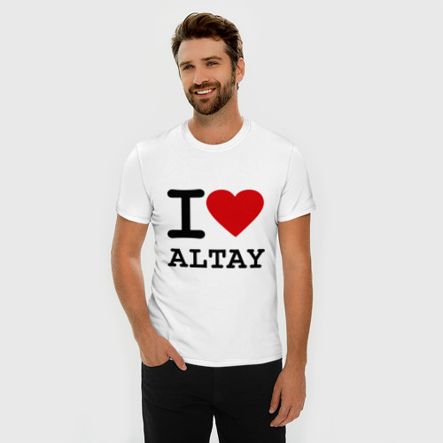 Мужская футболка премиум  Фото 03, I LOVE ALTAY