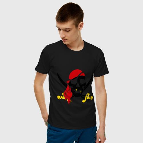 Мужская футболка хлопок Пиратский череп Фото 01