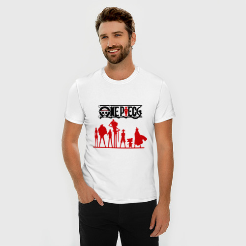 Мужская футболка премиум  Фото 03, персонажи one piec