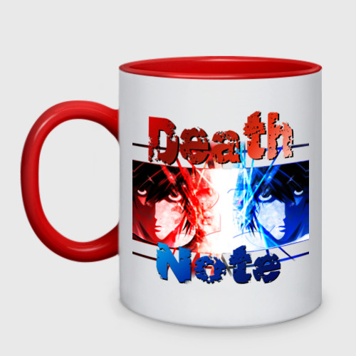 Кружка двухцветная L. Death note