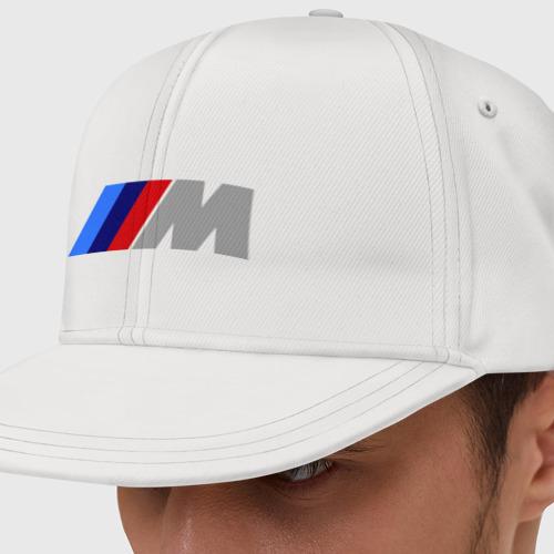 Кепка снепбек с прямым козырьком BMW M Фото 01