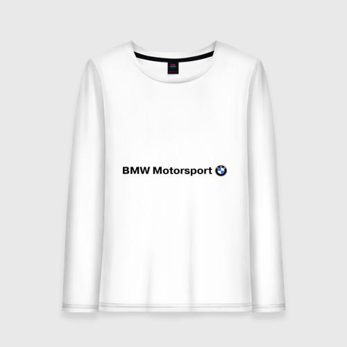Женский лонгслив хлопок  Фото 01, BMW Motorsport