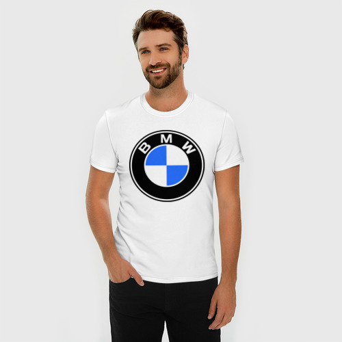 Мужская футболка премиум  Фото 03, Logo BMW