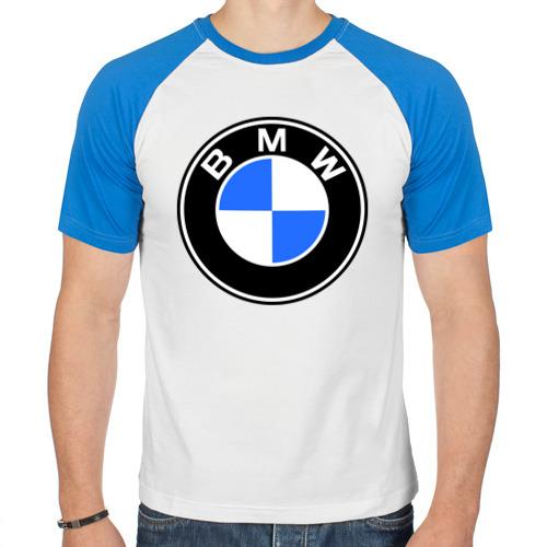 "Мужская футболка-реглан ""Logo BMW"" - 1"