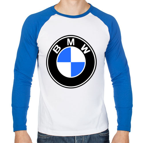 """Мужская футболка-реглан с длинным рукавом """"Logo BMW"""" - 1"""
