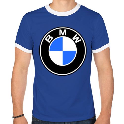 "Мужская футболка-рингер ""Logo BMW"" - 1"