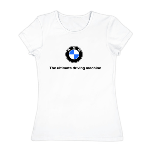 Женская футболка хлопок The ultimate driving machine