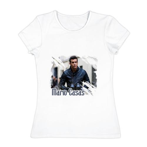 Женская футболка хлопок Mario Casas