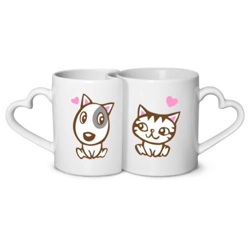 Кружки парные Kitty dog in love