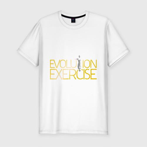 Мужская футболка премиум  Фото 01, Evolution of Exercise NEW