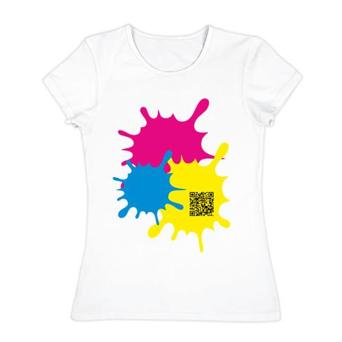 Женская футболка хлопок  Фото 01, blur design