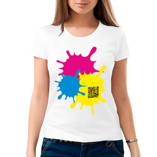 Женская футболка хлопок  Фото 03, blur design