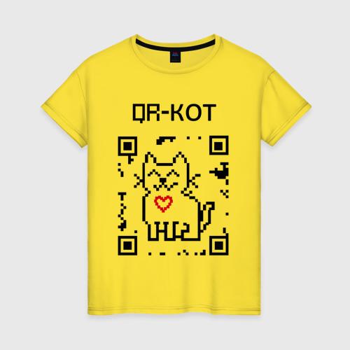 Женская футболка хлопок QR-code-kote Фото 01