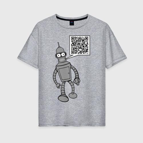 Женская футболка хлопок Oversize Построю свой мир Фото 01
