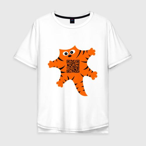 Мужская футболка хлопок Oversize Почеши мне пузико Фото 01