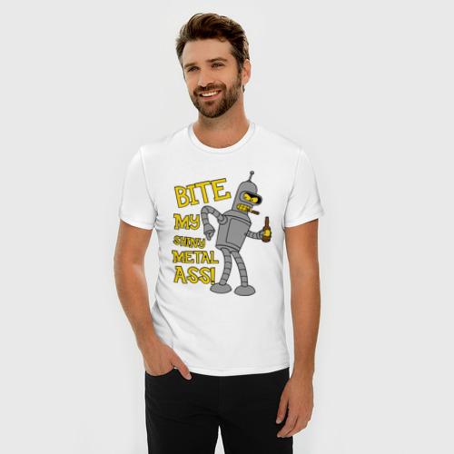 Мужская футболка премиум  Фото 03, BENDER (укуси мой полированный металлический зад)