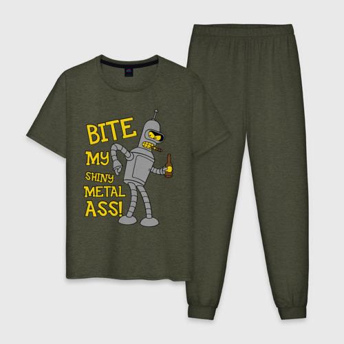 Мужская пижама хлопок BENDER (укуси мой полированный металлический зад) Фото 01