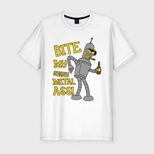 Мужская футболка премиум  Фото 01, BENDER (укуси мой полированный металлический зад)