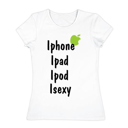 Женская футболка хлопок  Фото 01, iSexy