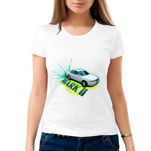 """Женская футболка """"Тoyota mark2"""" белая - 1"""