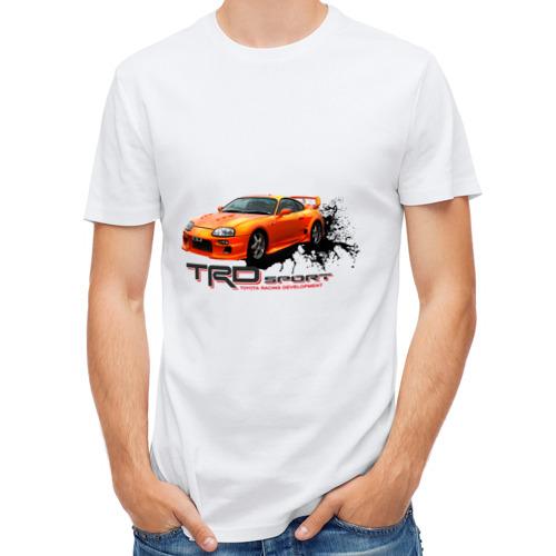 Мужская футболка полусинтетическая  Фото 01, toyota supra TRD
