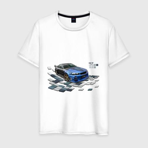 Мужская футболка хлопок Nisan Skyline
