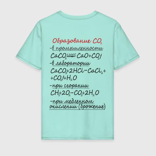 Мужская футболка хлопок Шпаргалка по химии СО2 Фото 01