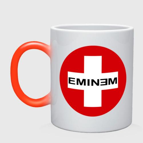 Кружка хамелеон Eminem знак
