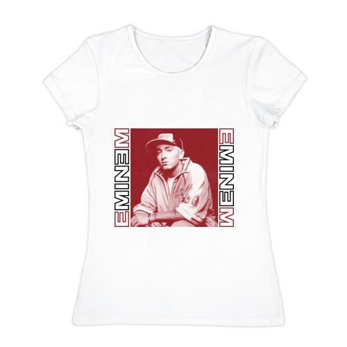 Женская футболка хлопок Eminem в кепке