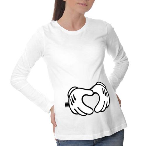 Лонгслив для беременных хлопок heart with hands