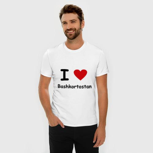 Мужская футболка премиум  Фото 03, I love Bashkortostan