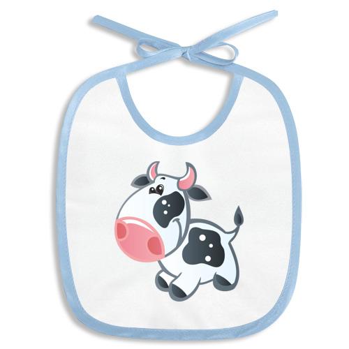 Слюнявчик Веселая корова