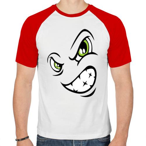 Мужская футболка реглан  Фото 01, Angry smiley