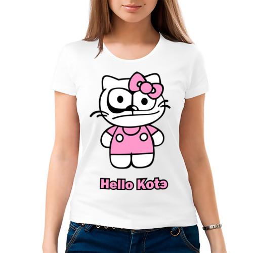 Женская футболка хлопок  Фото 03, hello kotэ