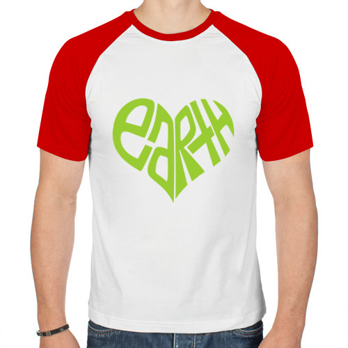 Мужская футболка реглан  Фото 01, Earth Heart