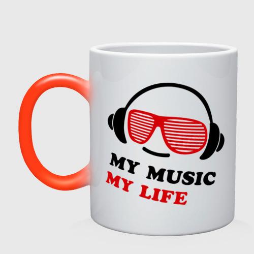 Кружка хамелеон My music my life