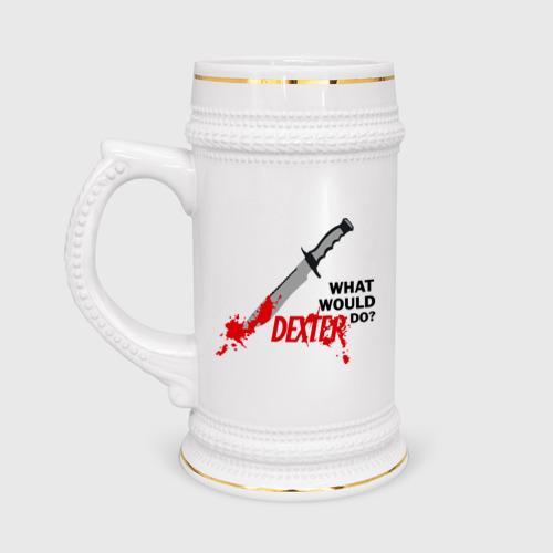 Кружка пивная what would Dexter do?